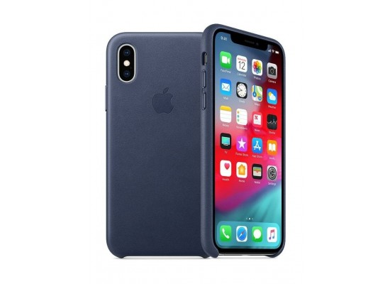 iphone xs max case blue leather
