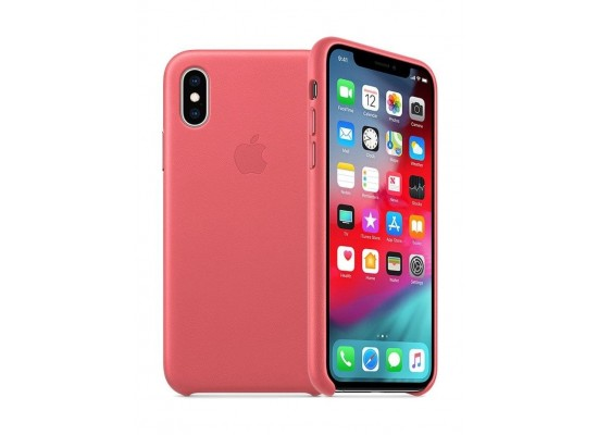 Apple iPhone XS MAX Leather Case - Peony Pink 855573a2b2