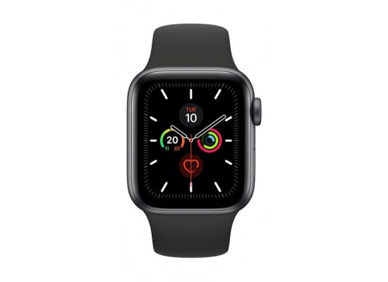 PRE-ORDER: Apple Watch Series 5 GPS 44mm Space Grey Aluminium Case with Black Sport Band