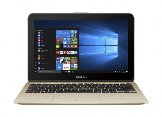 ASUS VivoBook Flip 12 Intel Pentium 4GB RAM 1TB HDD 11.6 inch Touchscreen Laptop - Gold