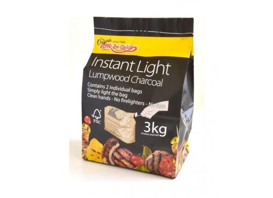Bar-Be-Quick Instant Light Lumpwood Charcoal - 3Kg