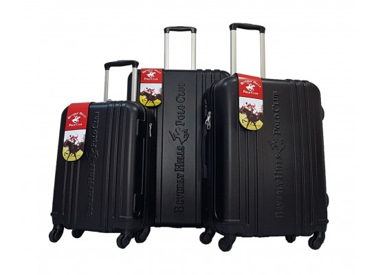Beverly Hills Polo Club Unity Hard Luggage 3 Piece Set - Black
