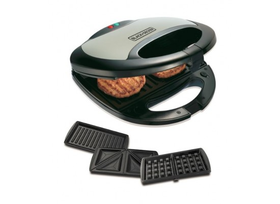 Black & Decker 3-in-1 Sandwich Maker 750W 2Slot - TS2090