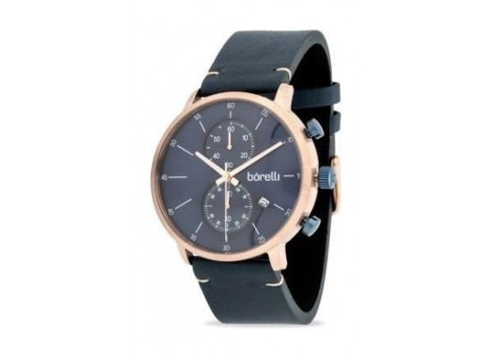 Borelli Sports 43mm Chronograph Gents Leather Watch - 20053454