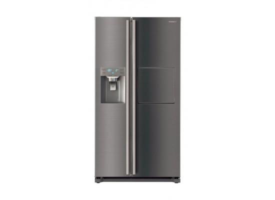 Daewoo 22 CFT Side by Side Refrigerator (FRN-X22F3I) - Silver