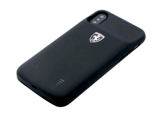 best loved 0c2e1 f5cf4 Ferrari Full Cover Power Case for Apple iPhone X - Black