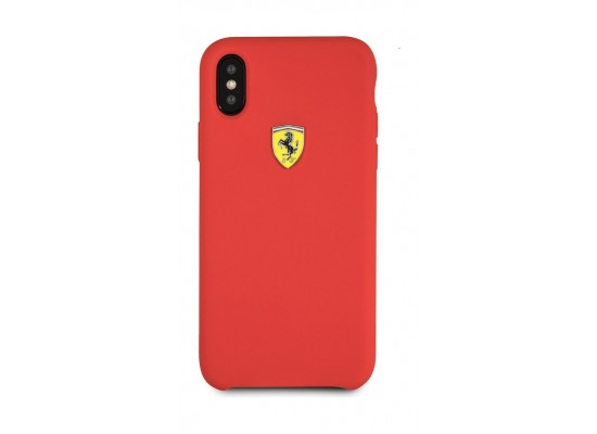 buy online d810f 83401 Ferrari Silicone Back Cover for Apple iPhone X - Red