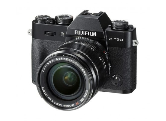 Fujifilm X-T20 Mirrorless Digital Camera + XF 18-55mm Lens - Black