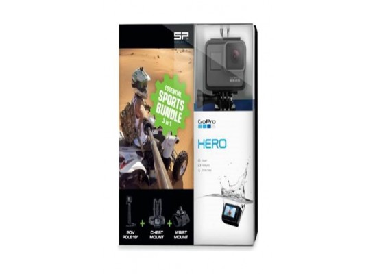 GoPro Hero Action Camera + Essential Sports Bundle 3-in-1