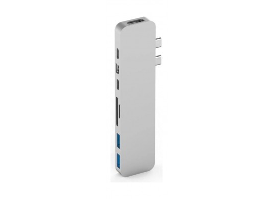 HyperDrive DUO 7-in-2 USB-C Hub  - Silver