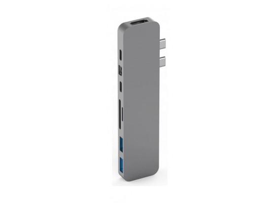 HyperDrive DUO 7-in-2 USB-C Hub  - Space Grey