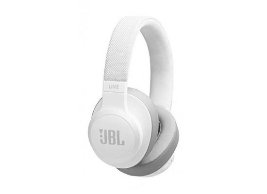 JBL Live 500BT Wireless Over-Ear Headphones - White