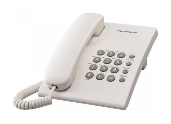 Panasonic Corded Telephone (KX-TS500FXW) - White