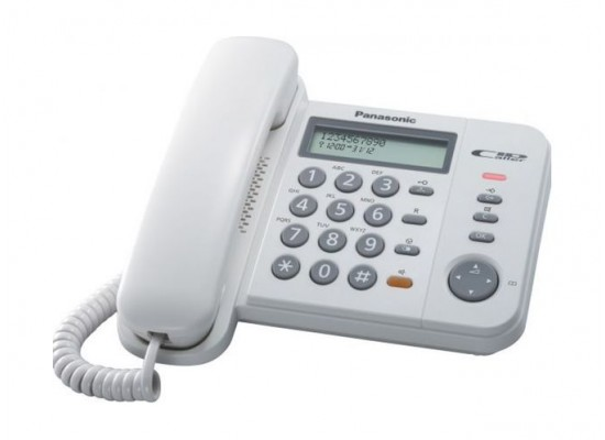 Panasonic Corded Telephone (KX-TS580FXW) - White