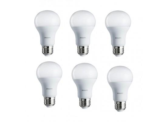 Philips 8W Warm White LED Bulbs 6pcs