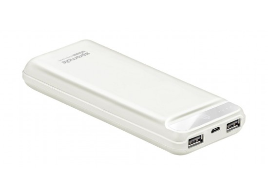 Promate Quantum-20 20000 mAh Powerbank with 2 USB Ports - White