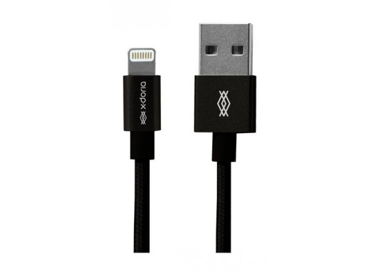 X-Doria USB to Lightning Cable 0.2M - Black