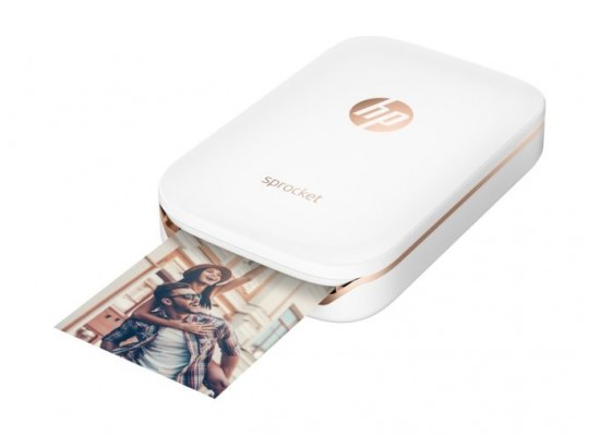 HP Sprocket Portable Photo Printer (X7N07A) – White