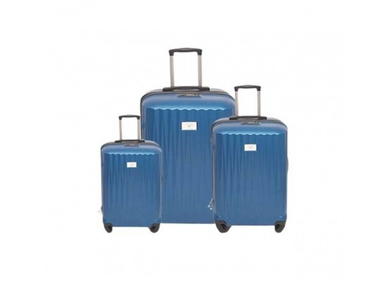 US Polo Calypso Set Of 3 Hard Luggage - Navy