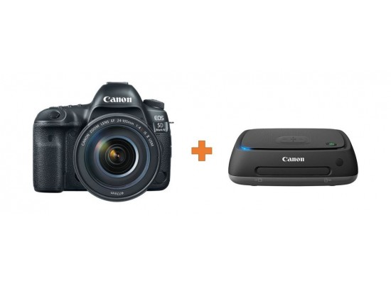 Canon EOS 5D Mark IV DSLR Camera with 24-105mm f/4L II Lens + Canon Connect  Station CS100 1TB Storage Device+FREE FLIGHT TICKET