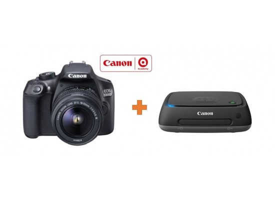 Canon EOS 1300D 18MP WiFi DSLR Camera With 18-55mm Zoom Lens + Canon  Connect Station CS100 1TB Storage Device+FREE FLIGHT TICKET