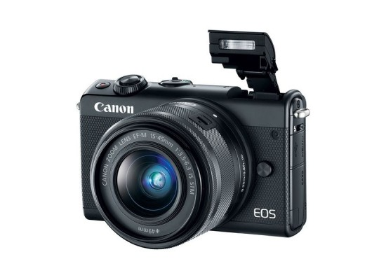 Canon EOS M100 Mirrorless Digital Camera with 15-45mm Lens - Black