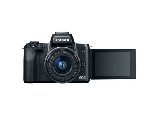 Canon EOS M50 Mirrorless Digital Camera With 15-45mm + 55-200mm IS STM Lens
