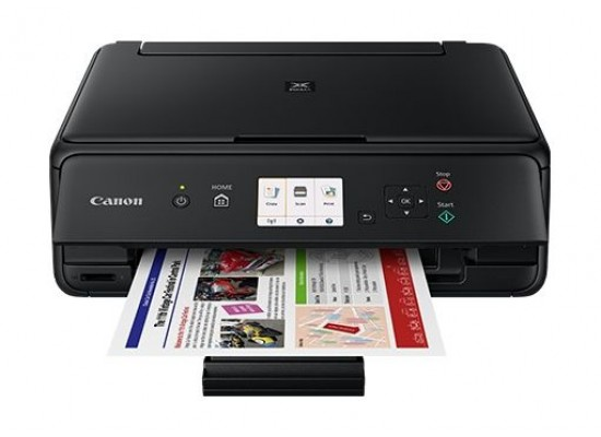 Canon TS5040 Pixma Inkjet 3-In-1 Wireless Colour Printer Black - Straight