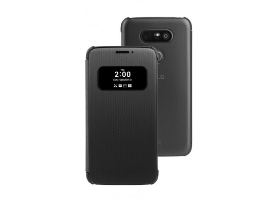 super popular b47a8 5d613 LG Mesh Folio Quick Cover Case For LG G5 - Titan Black | Xcite ...