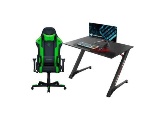 """DXRacer Razer Special Edition Racing Gaming Chair + 43"""" Z Shaped Gaming Computer Desk in Kuwait 