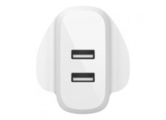 Belkin Boost Charge Dual USB-A Wall Charger 24W - White