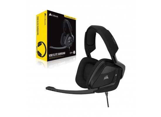 Corsair VOID Elite Surround Premium Wired Gaming Headset - Carbon