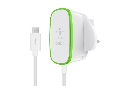 Belkin Home Charger With Micro-USB Cable - 1.8 Meter (F7U009DR06) - White