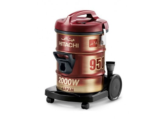 Hitachi 2000W 18L Drum Type Vacuum Cleaners (CV-950Y) – Red