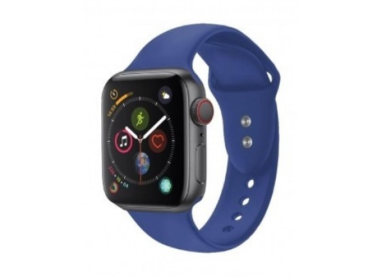 Promate Oryx-42ML Sporty Silicon Watch Strap for 42mm Apple Watch - Dark Blue
