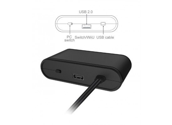 Dobe 3 In 1 GC Controller Adapter For Nintendo Switch - (TNS-1894)