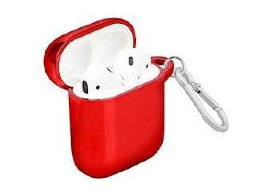AirPods Case Cover with Keychain - Red