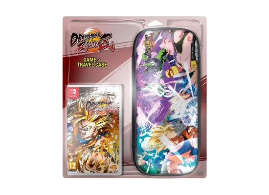 Nintendo Switch Lite Gaming Console - Grey + Dragon Ball FighterZ Nintendo Switch Game + Travel Case