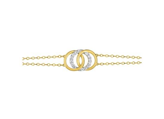 Fontenay Ladies Bracelet - Brass - Gold Plated  (DSB367Z18E) in Kuwait | Xcite Alghanim