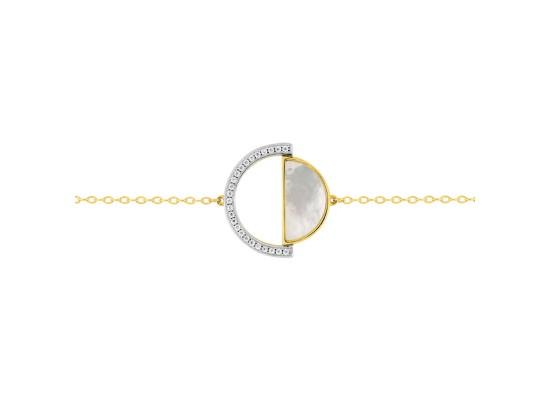 Fontenay Ladies Bracelet - Brass - Gold Plated  (DSB369PZ18E)