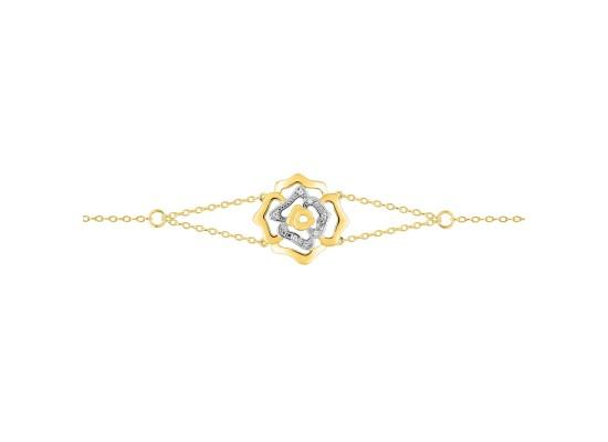 Fontenay Ladies Bracelet - Brass - Gold Plated  (DSB370Z18E)
