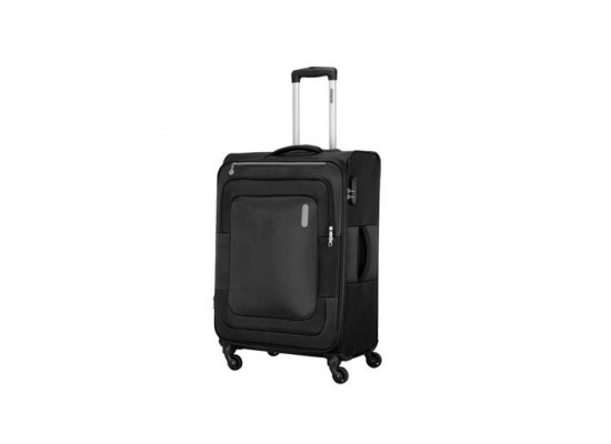 American Tourister Duncan 55CM Spinner Soft Luggage (FL8X09901) - Black