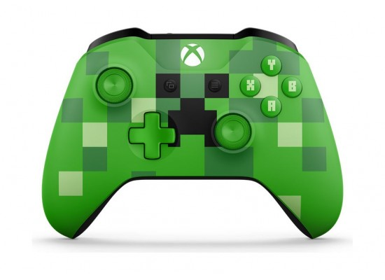 Microsoft Xbox One Minecraft Creeper Wireless Controller (WL3-00057) - Front View