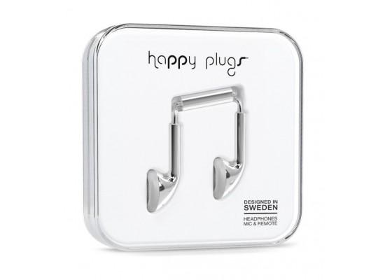 Happy Plugs Earbud Earphones – Silver