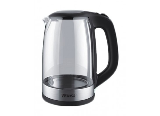 Wansa 2200W 1.7 L Electric Glass Kettle (KEG-1701C)