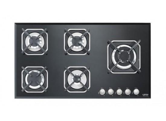 Lofra 90cm 5-Burner Built-in Gas Hob (HGN950) - Black
