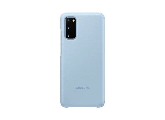 Samsung S20 Clear View Cover - Blue