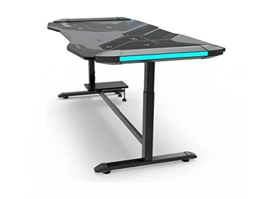 E-Blue King Size Adjustable Glowing Light Gaming Desk - (EGT576BKAA-IA)