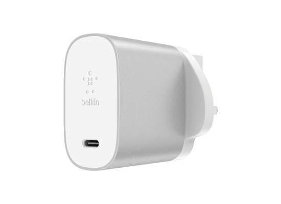 Belkin USB-C Wall Charger + USB-C/Lightning Cable - Silver