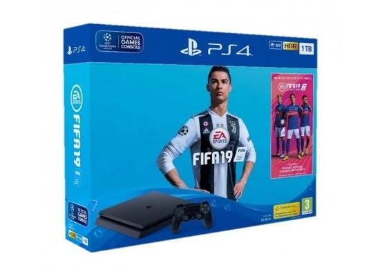 Sony PS4 Slim 1TB + FIFA 19 Standard Edition + FIFA 19 Ultimate Team DLC + PSN 14 Days